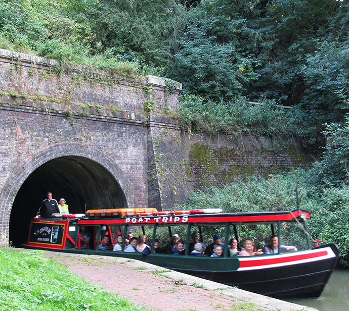 Boat trip through the tunnel