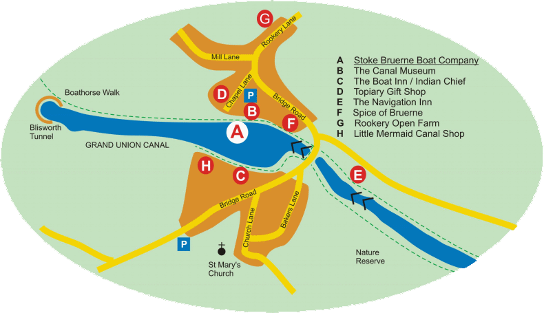 Stoke Bruerne map